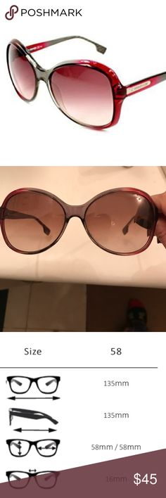 Hugo Boss Orange sunglasses Like new! Bug eye style sunglasses. Style BO0061/S DFFPB. See pic for dimensions. Let me know if you have questions! BOSS ORANGE Accessories Sunglasses