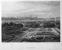 Austria - Vienna | Graphic         : Steel Engraving Size Picture  : 16 x 13 cm   Year              : +1860 Del                : Rouargue Pinx              : Rouargue Editeur         : Garnier Freres Vienna, Austria, Paris Skyline, Pictures, Travel, Viajes, Destinations, Traveling, Trips