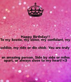 Birthday Quotes Happy To My Bestie Sister