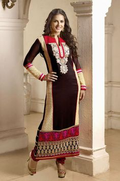 Bollywood Diva Sunny Leone Latest Party Wear Salwar Kameez