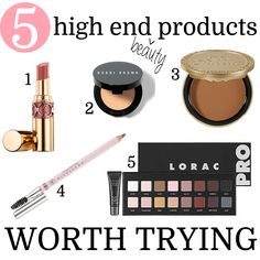 5 unique high end beauty products worth trying! A must add to your beauty wish list.
