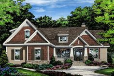 ePlans Ranch House Plan – Compact Craftsman Ranch – 1622 Square Feet and 3 Bedrooms from ePlans – House Plan Code Country Style House Plans, Craftsman Style House Plans, Ranch House Plans, Farmhouse Style, Farmhouse Plans, Rambler House Plans, Farmhouse Decor, House Plans One Story, New House Plans