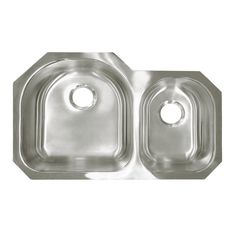 """View the Deltana SSS31520DBULE 31-3/8"""" x 20"""" Stainless Steel Double Basin Undermount Kitchen Sink at Build.com."""