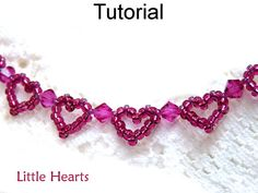 Beading Pattern, Heart Bracelet Beading Tutorial, Jewelry Making, Beaded Bracelets, Patterns Tutorials Seed Beads Simple Bead Patterns #1159...
