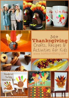 50+ Thanksgiving Crafts, Recipes, & Activities for Kids