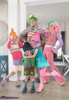 Poppy Halloween Costume, Addams Family Halloween Costumes, Matching Family Halloween Costumes, Diy Costumes For Boys, Themed Halloween Costumes, Halloween Costume Contest, Cute Costumes, Diy Halloween, Costume Ideas