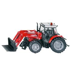 Siku traktor m frontlæsser - Massey Ferguson str 1:32