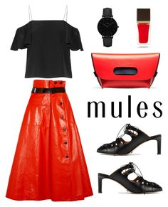 """That Red Leather Skirt!!"" by im-karla-with-a-k on Polyvore featuring Bottega Veneta, Fendi, The Row, CLUSE and Tom Ford"
