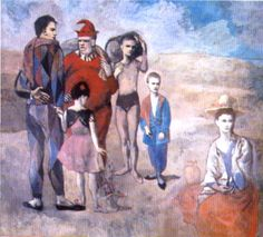 Saltimbanques (The Family of Saltimbanques) (1905), Oil by Pablo Picasso (1881-1973, Spain) #family #OilPainting