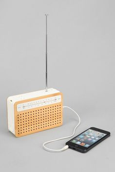 This retro radio doubles as a speaker for your smartphone.