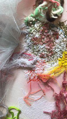 Kelly Darke - Fine Art by kellydarke Fabric Manipulation Techniques, Tie Dye Techniques, Textiles Techniques, Embroidery Techniques, Fabric Manipulation Tutorial, Fine Art Textiles, Creative Textiles, Textile Fiber Art, Textile Artists