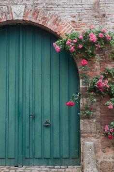French Country, Blue Door and Roses Fine Art Travel Photograph, France, Home Decor, Wall Art