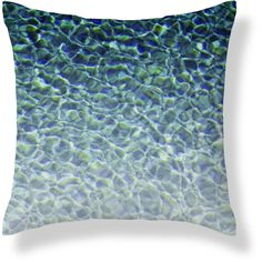 Pool Water 3 Outdoor Throw Pillow, Nautical Blue Accent Pillow, Deck... (£38) ❤ liked on Polyvore featuring home, outdoors, outdoor decor, blue outdoor pillows and blue outdoor throw pillows
