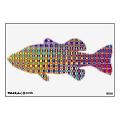 Psychedelia Bass Fish Wall Decal