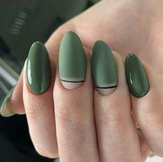 fantastic green nail art designs ideas to upgrade your look 16 Green Nail Designs, Nail Art Designs, Nails Design, Hair And Nails, My Nails, Nail Manicure, Glitter Nails, Gold Glitter, Pedicure
