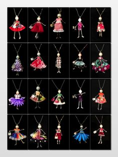 French doll pendants