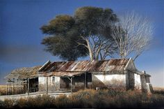 JF Country Art, Country Farmhouse, Cool Landscapes, Landscape Paintings, African Art Paintings, Building Painting, Farm Houses, World Photography, Rio Grande
