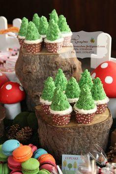 Woodland themed caupcake