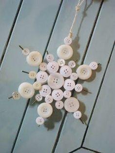 DIY Button Snowflake Ornament