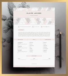 Creative Resume Template, CV Template, Instant Download, Editable In MS  Word And Pages + Cover Letter