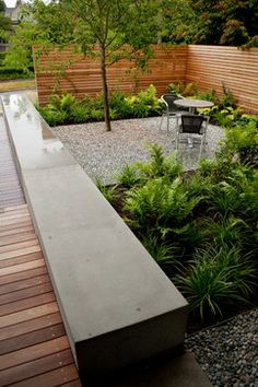 wittman estes / queen anne area residence, seattle minimal landscape concrete benchseat