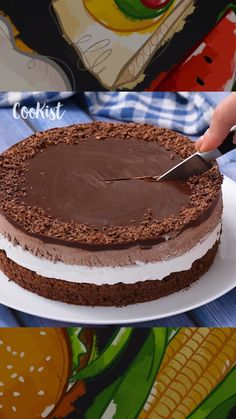 """""""Mi piace"""": 5,651, commenti: 68 - Cookist (@cookist) su Instagram: """"Tre strati di pura golosità! Ecco la ricetta della torta cremosa che conquisterà grandi e piccini!…"""""""