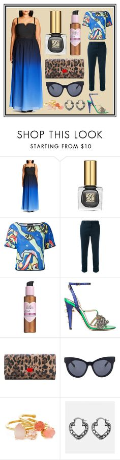 """""""Solid And Superb"""" by cate-jennifer ❤ liked on Polyvore featuring City Chic, Boutique Moschino, Closed, Million Dollar Tan, Gucci, Dolce&Gabbana, Karen Walker, Kate Spade and Avenue"""