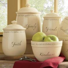 Set of 3 Inspirations Canisters from Through the Country Door®