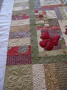 flowers by green fairy quilts - she does amazing work!