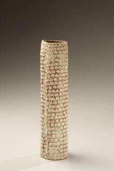 brown - vase - ceramic - . Yagi Kauzo
