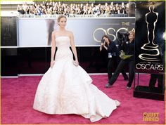 Jennifer Lawrence - Oscars 2013 Red Carpet | jennifer lawrence oscars 2013 red carpet 03 - Photo Gallery | Just Jared -- Jennifer Lawrence stuns on the red carpet at the 2013 Academy Awards held at the Dolby Theatre on Sunday (February 24) in Hollywood.    The 22-year-old actress looked amazing in a Dior Haute Couture dress, a Chopard jewels, a Roger Vivier clutch, and Brian Atwood shoes.