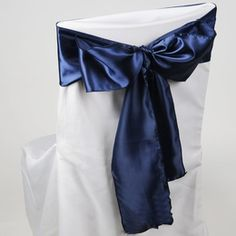 9.90 SALE PRICE! Add the rich color of the deep sea or midnight sky to your wedding décor with the Navy Satin Chair Sashes. These rich, shimmering bands help...