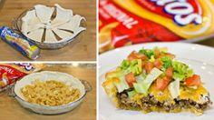 Frito Taco Pie With A Crescent Dough Crust