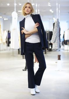 Pernille Teisbaek | Calvin Klein Resort 2015 | все обувные тренды 2016 белые ботильоны