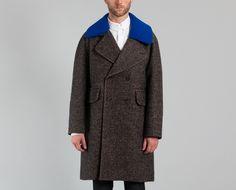 Manteau Col Bleu Marron Carven en vente chez L'Exception