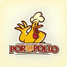 """Logo de """"PorSuPollo"""" Hace unos meses diseñé este logo para un negocio de pollos. Ellos se dedican al manejo del pollo vivo y aprovechando esta sinergia, se decidieron a la venta de pollos preparados de diversas formas, desde horneados, rostizados o asados, entre otros ¿qué les parece?"""