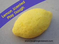 Simple to make and smells amazing. This lemon scented play dough will have the kids playing for hours. Laughing Kids Learn: Lemon Scented Play Dough