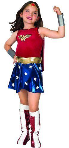 "Super DC Heroes Wonder Woman Child's Costume - Child's Small (44-48"" Height, 25-26"" Waist) #Halloween #costumes #kids #girls #clothing #ad"