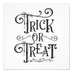 Vintage Decor Diy Trick or Treat Vintage Typography Type Halloween Poster - halloween decor diy cyo personalize unique party - Customize with any text. Matching items are available. Art Halloween, Halloween Quotes, Halloween Projects, Diy Halloween Decorations, Holidays Halloween, Happy Halloween, Halloween Chalkboard Art, Halloween Silhouettes, Halloween Witches