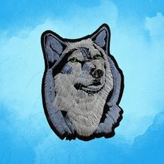 Wolf Back Patch Biker Animal Patch Punk patches iron on patches Sew on patches by FeltFabricool on Etsy