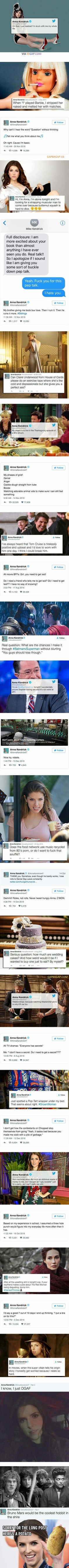 Hilarious Tweets Collection By Anna Kendrick