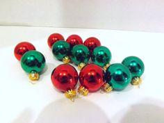 Vintage Glass Christmas Ornament Set Of 12 by JandDsAtticTreasures, $16.00