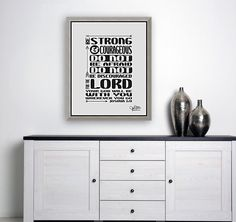 Joshua Scripture Wall Art Be Strong and Courageous Printable Wall Art, Christian Wall Art, Bible Verse Wall Art Printable Scripture Sign Scripture Signs, Bible Verse Wall Art, Printable Bible Verses, Printable Wall Art, Christian Wallpaper, Christian Wall Art, Diy Framed Art, Christian Gifts For Women, Joshua 1