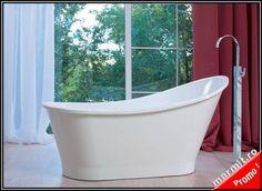 Cada baie ovala Glamour din compozit, obiecte sanitare, cazi de baie, cazi compozit, cazi otel, cazi acril, cabine de dus, lavoare baie, lavoare…