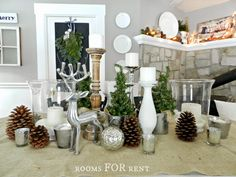 ~rooms FOR rent~: Pinecones, Mercury Glass & Greenery Christmas Tour {2013}