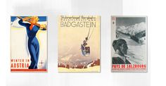 MOUNTAIN HOPPING - A CURATED GUIDE TO INDEPENDENT ALPINE HOTELS Die Ski Winter Edition mit tollen Nostalgieplakaten