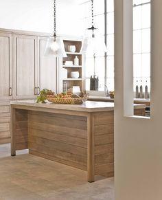 natural barn wood style kitchen island