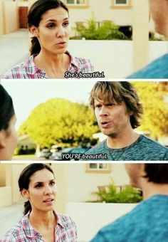 And then she punches deeks in the arm .........lol Densi <3