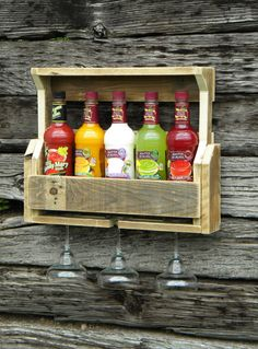 Estante del estante del vino el vino de madera regalo vino