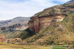Sandstone rocks like Mushroom Rock, Golden Gate Highlands National Park